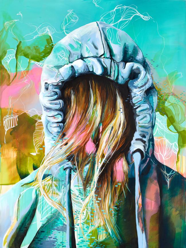 Benzination 160x120cm Acrylic Ink on canvas 2015 _ Julia Benz