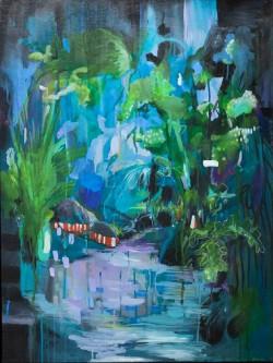 Julia Benz _  Lost Control Acryl, Tusche auf Holz 80 x 60 cm 2014 ohne Rahmen web