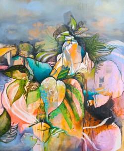 Julia Benz _Plantarium Acryl, Tinte auf Leinwand 120 x 100 cm 2013 web