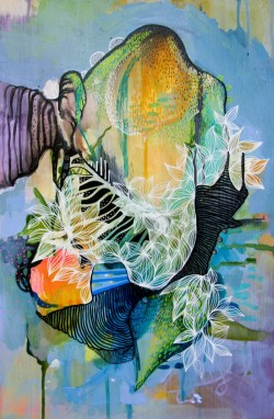 Nature One 49 x 28 cm acrylic and aerosol on wood 2013_Julia Benz web