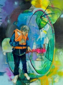 web - nichts zu verlieren 160 x 120 Acryl, Oil, Lack auf Leinwand 2012