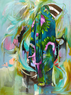 Julia Benz_Rollercoaster Girl 160x120cm acrylic,ink on canvas 2015 Low Res