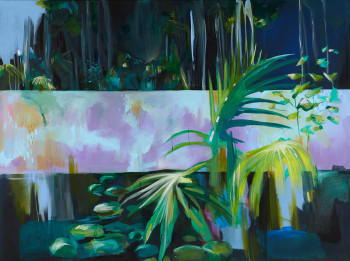 Palmfree 160x120 cm acrylic ink on canvas 2015 _ Julia Benz Low Res