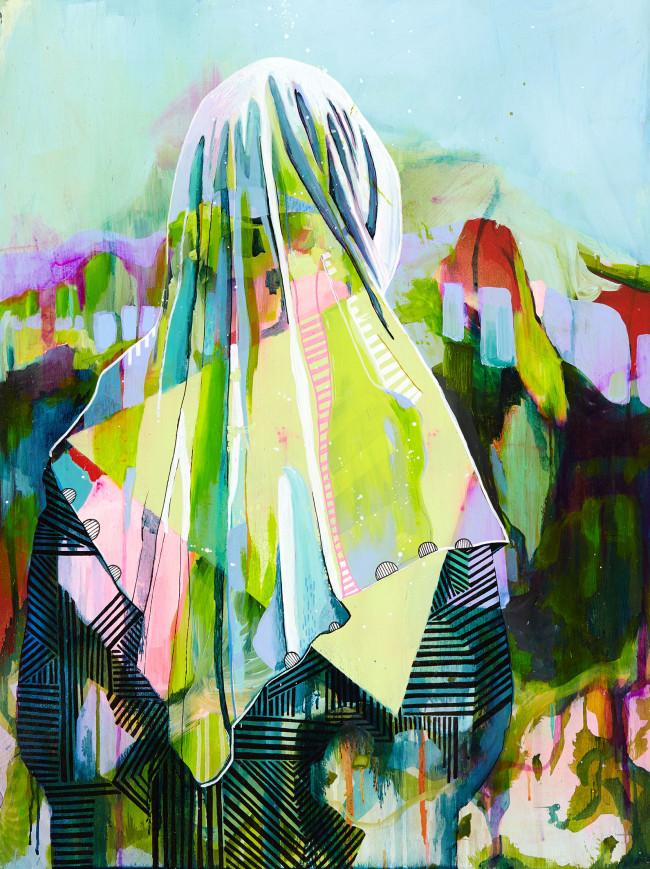 Julia Benz_Team #2 acrylic,ink,aerosol on wood 80x60cm 2015 Low Res