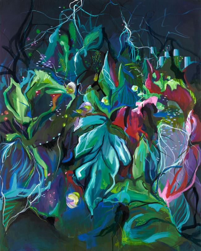 JuliaBenz_In Vain 100x80cm acrylic ink on vanvas 2016 Low Res