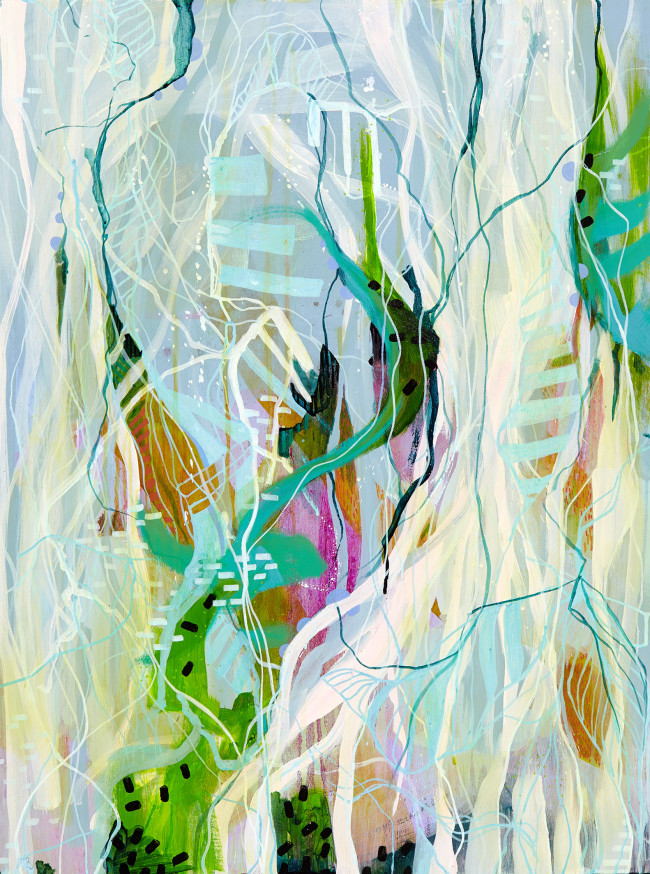 Julia Benz _ Young acrylic,ink on wood 80x60cm 2015 Low Res