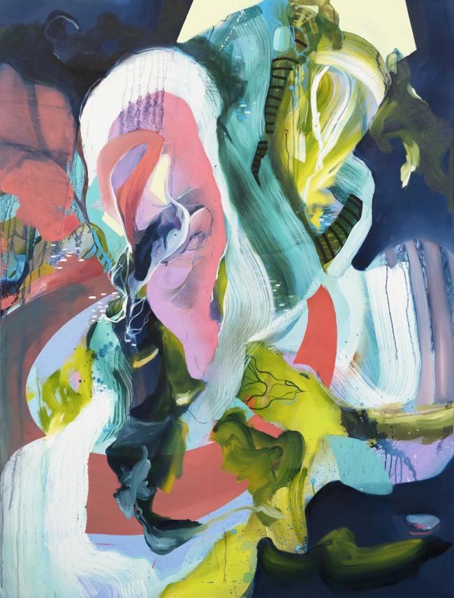 Julia Benz_Gedanken Verloren 160x120cm acrylic, ink, oil, aerosol on canvas 2018_web