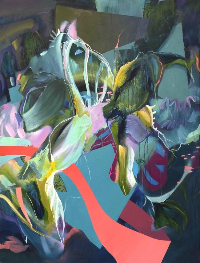 Julia Benz_Natural Wonder 160x120cm acrylic, oil, aerosol on canvas 2018_web