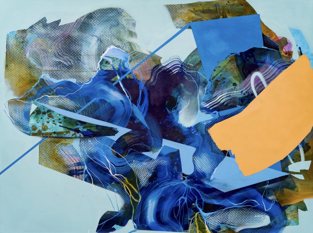 Julia Benz-Blue Diamond-2019-120 cm x 160 cm-acrylic, ink, aerosol on canvas-web