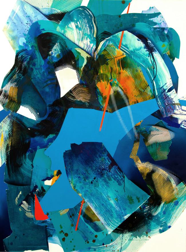 Count to Ten II, 2019 Acryl, Ink, Aerosol on Canvas 160 x 120 cm, JB0196  5.600 €