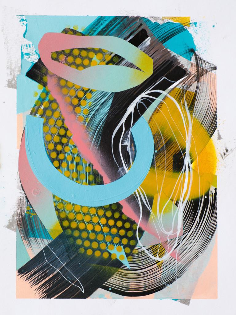 JuliaBenz_Tag 366 _acrylic,ink,spraypaint on paper_40cm x 30cm_2021_LoRes