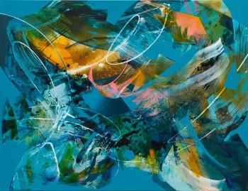 JuliaBenz_Tunnel View_acrylic,ink,spraypaint on canvas_100cm x 130cm_2021_LoRes Kopie